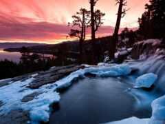 природа, гора, ручей