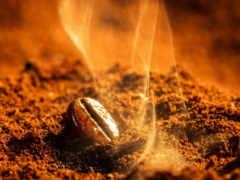 кофе, зерно, дымок