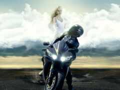 день, мотоцикл, biker