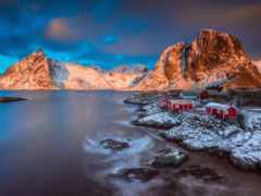 lofoten, winter, islands