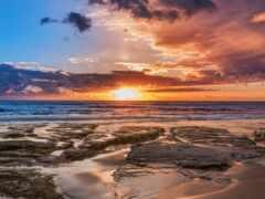 небо, восход, закат