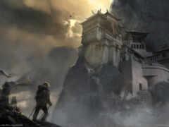 горы, cursed, путник