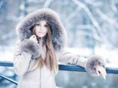 winter, девушка, одежда