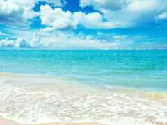 пляж, ocean, компьютер