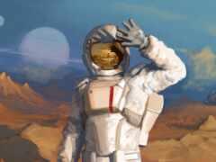 скафандр, космонавт, космос