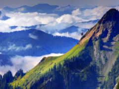 природа, горы, горная