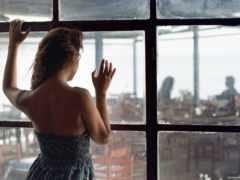 окна, девушка, coffee