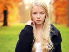 blonde, eyes, women