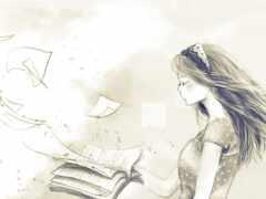 drawing, девушка, pencil