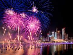год, fireworks, ева