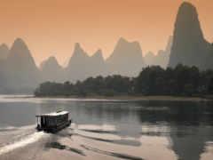 китая, китаянка, река