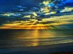 rising, небо, солнца
