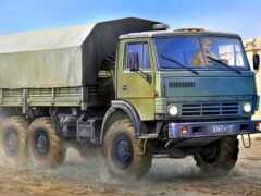 truck, камаз, военный