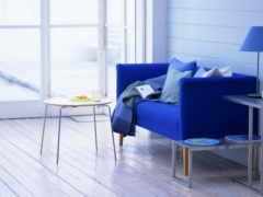 blue, интерьер, комната