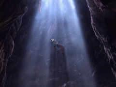 человек, свет, пещера