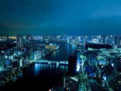 япония, токио, ночью