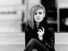 black, white, модель