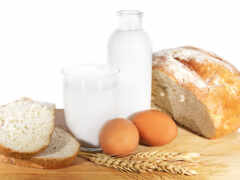 milk, хлеб, кувшин