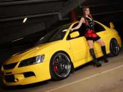 lancer, седан, yellow