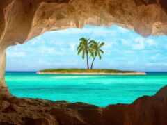 остров, море, caribbean