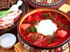 борщ, русская, блюдо