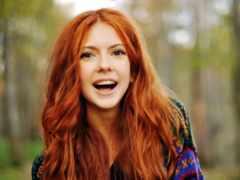 волос, рыжие, color