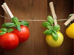веревка, und, tomato