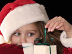 девушка, наклейка, christmas