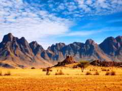 горы, пустыня, небо