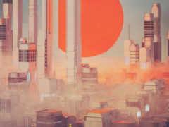 futuristic, город, art