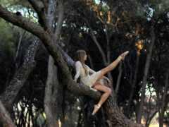 лесу, фотосессия