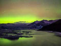 aurora, boreal, una