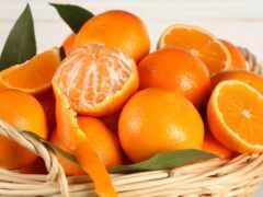 оранжевый, tangerine, плод