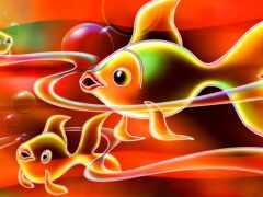 fish, золотистый, clique