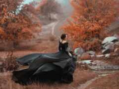 платье, coven, чёрн