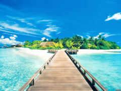 фон, храм, пляж