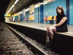 поезд, девушка, women