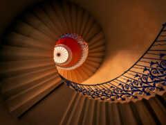 интерьер, стена, лестница