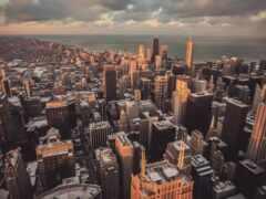 chicago, город, cityscape