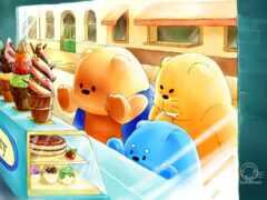illustration, cartoon, медведь