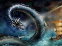 змей, море, snake