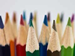 карандаши, цветные, картинка