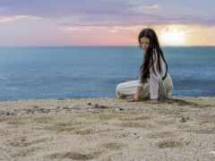 девушка, море, starve