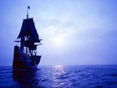 core, корабль, море