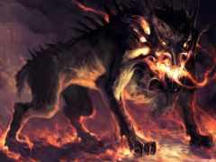 infernal, собака, одного