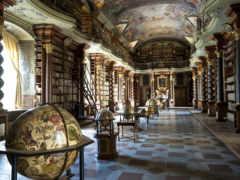 библиотека, глобусы, старинная