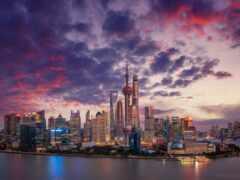 река, shanghai, китаянка