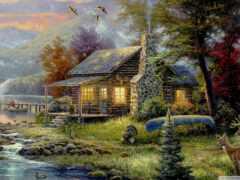 картинка, house, озеро