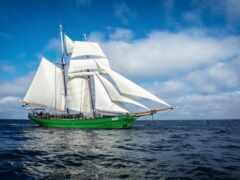 sailboat, корабль, море