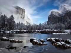 река, гора, rock